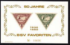 Gedenkblatt,,50 Jahre BSV-Favoriten,,TOP ! siehe Bild >