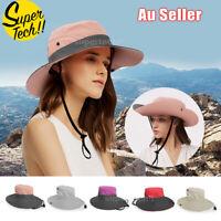 Sun Protective Hat Hiking Travel Ladies Men Summer Big Wide Brim Cap Beach Visor