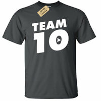 KIDS BOYS GIRLS Jake Paul Logan Team 10 T-Shirt top you tuber Funny Maverick
