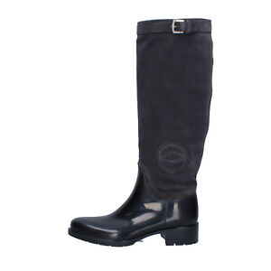 women's shoes GUARDIANI 6 (EU 36) boots black gray suede KY250-36