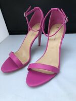 "New NEW LOOK Size 7 UK Pink Sandals Strappy 4"" High Stiletto open Toe Purple"