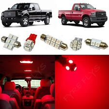14x Red LED lights interior package kit 1999-2010 Ford F250 F350 Super Duty FS1R
