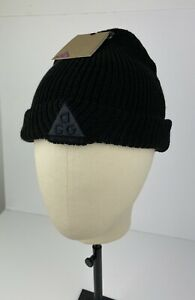Nike ACG All Conditions Gear Wool Blend Triple Black Ribbed Beanie UNISEX
