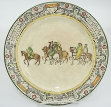 Royal Doulton Canterbury Tales Pilgrims Plate Beckets Martyrdom Antique Crazing