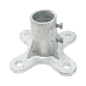 "2"" Floor Flange w/ 2 Set Screws (Fits 1 7/8"" OD)"