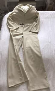 FENDI FENDISSIME ivory Trouser Suit Fendissime Embossed Size 44(10/12)