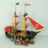 Vintage Playmobil Blackbeard Pirate Ship & Accessories Playset 1978 Geobra