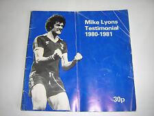 EVERTON FOOTBALL PROGRAMME - MIKE LYONS TESTIMONIAL - 1980