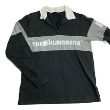 The Hundreds Men's Size M Long Sleeve Rugby Zip Shirt Streetwear Hip 90s Style