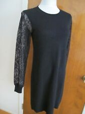 Bloomingdale's women's black luxe cashmere classic sweater dress New