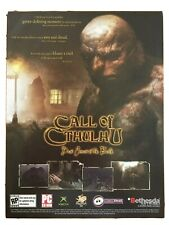 Call of Cthulhu Xbox PC 2004 Vintage Poster Ad Advertisement Print Art Very Rare