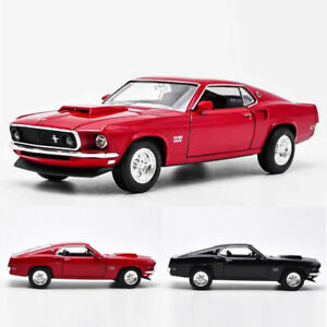 1:24 Vintage 1969 Ford Mustang Boss 429 Classic Model Car Diecast Collection