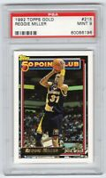 1992 Topps Gold 50 Point Club Reggie Miller Indiana Pacers HOF PSA 9 Mint