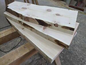 3 Stk Zirbenbretter gehobelt 4,5 cm Brett Baumkante Zirbenholz Regalbrett Zirbe
