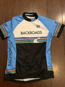 LOUIS GARNEAU Backroads Womens Cycling JERSEY, Size Small, 3/4 Zip, Go Active