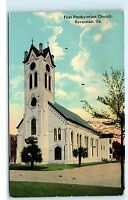 1917 First Presbyterian Church Savannah Georgia GA Postcard B07