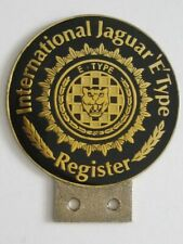 INTERNATIONAL JAGUAR E TYPE REGISTER CAR BADGE