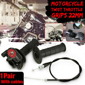 7/8'' 22mm Motorcycle Handlebar Grip Twist Quick Action Throttle Bar Cable Tube