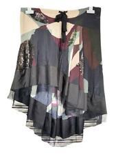 Les Copains Skirt Dip Hem Sequins Party Fishtail Black £275