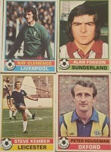 TOPPS 1977/78 RED BACK FOOTBALL CARDS NUMBERS 1 - 170 ***CHOOSE FROM LIST***