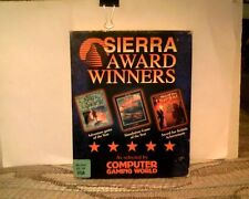 """PC 3.5"""" SIERRA AWARD WINNERS COMPILATION - 3 Games Kings Quest Red Baron Dragon"""