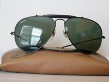 1990's Vintage Ray-Ban Black G15 Topgun/Outdoorsman Aviator Sunglasses