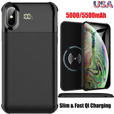 For iPhone XS Max/XS/X Qi Wireless Charging Battery Case Power Bank Charger Case