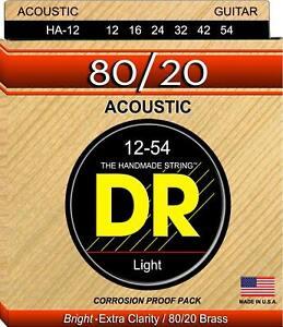 DR High Beam HA-12 Acoustic Guitar Strings.  Free U.S. Shipping!