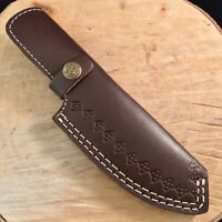 Leather Knife Sheath Fixed Blade Knife for 8 - 10 Inch Knife Dark Brown Leather