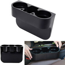 Black ABS Car Seat Crevice Gap Wedge Drink Bottle Cup Holder Mount Storage Box