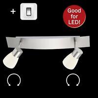 Wandlampe mit Schalter schwenkbar Strahler Wandleuchte weiß Lampe Wand Schalter