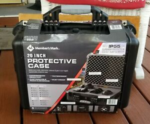 "NEW MEMBERS MARK 20"" PROTECTIVE HARD SHELL CASE- GUN/CAMERA/ELECTRONICS STORAGE"