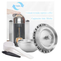 Stainless Steel Reusable Refillable For Nespresso Vertuoline Capsules Pods US