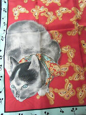 METROPOLITAN MUSEUM OF ART - NEW YORK TOKO CAT SCARF - ORIGINAL BOX - 100% SILK