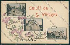 Aosta Saint Vincent Saluti da cartolina EE7206