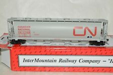 HO scale Intermountain Canadian National Ry cylindrical grain hopper car train