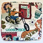 Vintage 1960s Woodstock Music Festival Throw Pillow Cover