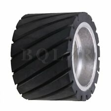 BQLZR 7x5cm Tooth-surface Rubber Wheel with Aluminum Core for Belt Grinder