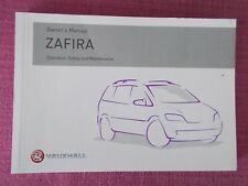 VAUXHALL ZAFIRA (2003 - 2005) OWNERS MANUAL - HANDBOOK INCLUDES GSi.  (YJL 1640)