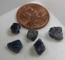 Rare Afghanistan 100% Natural 5 Blue Octahedron Miniature Spinel Crystals 5-8mm