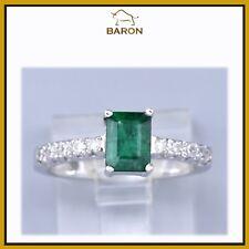 Jewelry & Watches Popular Brand Platino Diamante Y Emerald Cabujón Ovalado Anillo Precious Metal Without Stones