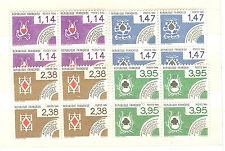 TIMBRES PREOBLITERES BLOCS DE 4 YVERT N° 178 à 81 COTE: € 14 cartes