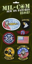 US style American Air Force Top Gun Flight Flying Suit Fancy Dress Cloth Badges