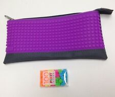 Cassidy Labs Pixit Pencil Pouch Carrying Case, Purple; Decorate w/ Pixel Art