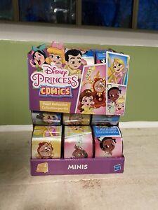 New Random Disney Princess Comic Minis Figure Series 4... Lot of 18 + display