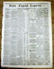 Original 1869 Sacramento Capital Reporter CALIFORNIA newspaper - 150 years old !