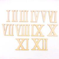 Römische Zahlen 1 bis 12, Ziffern, zum Anmalen und Basteln, Höhe 8cm DIY
