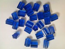 Vtg 25 COBALT BLUE GLASS 5 SIDED ATLAS GLASS BEADS 12X9 APPROX #040719k