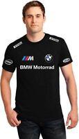 T-SHIRT maglietta nera BMW M motorrad mens black uomo stampa polo