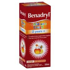 BENADRYL CHILDREN'S COUGH 2 YEARS + 200ML HONEY LEMON FLAVOUR CONGESTION RELIEF